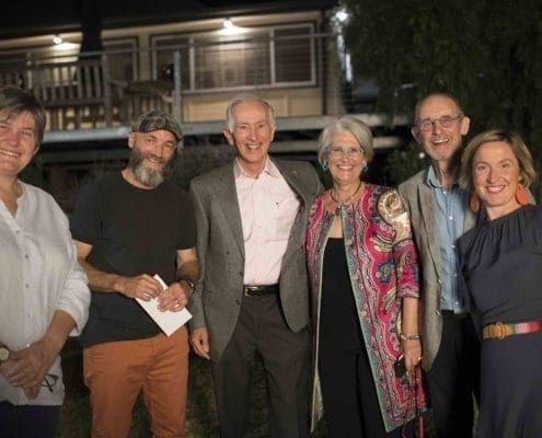 Tracy Norman, Braddon Snape, John and Philippa Graham, Paul Selwood and Brigette Uren