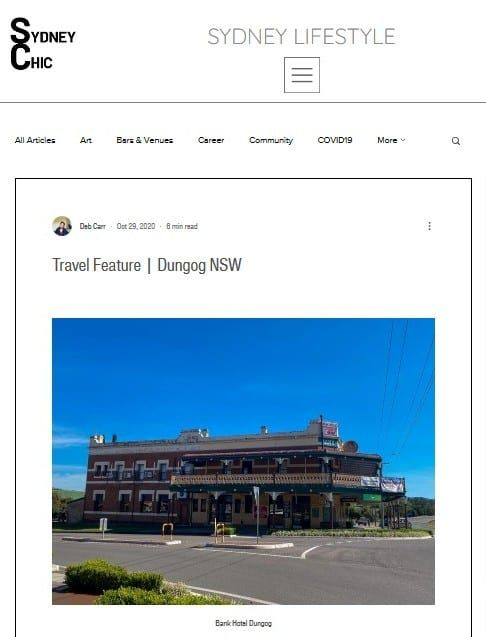 Dungog feature in SydneyChic 29 Oct 2020