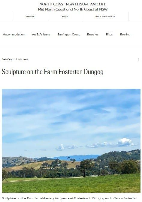 Sculpture on the Farm feature in North Coast NSW Leisure & Life