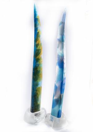 088-1 Sallie Portnoy Sea Blades  glass Garden 2021