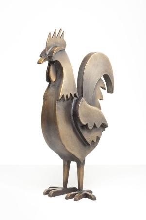 095-1 Jimmy Rix Rooster 1of9 bronze Garden 2021